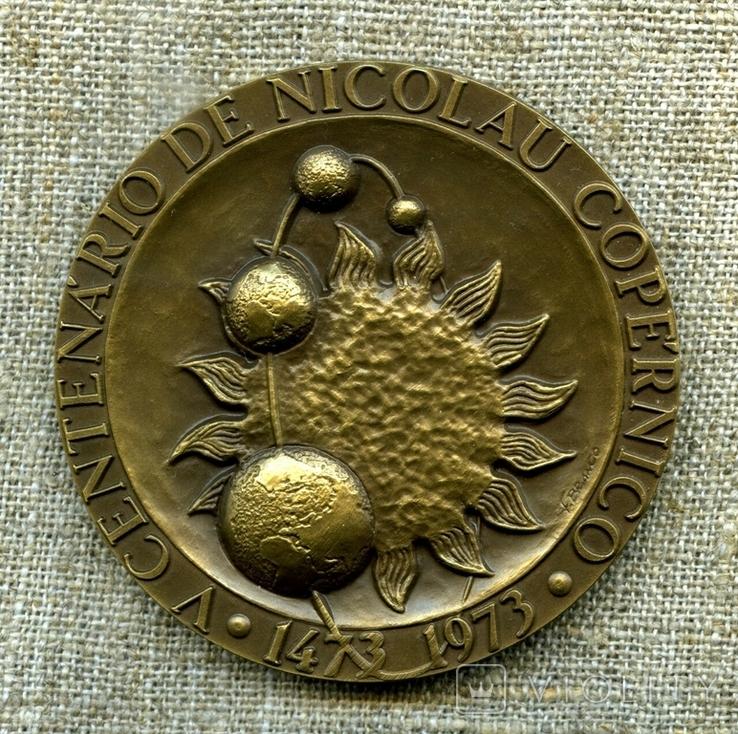 Астрономія, настольна медаль, Микола Копернік, фото №3