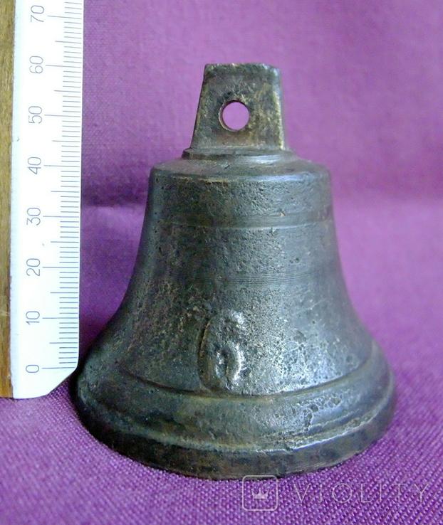 Колокольчик поддужный №6 бронза ХІХв. - начало ХХ века., фото №3