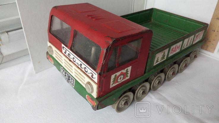 3341 КАМАЗ на базе вездехода Геолог Экспедиция БАМ детская игрушка из СССР на батарейках, фото №2