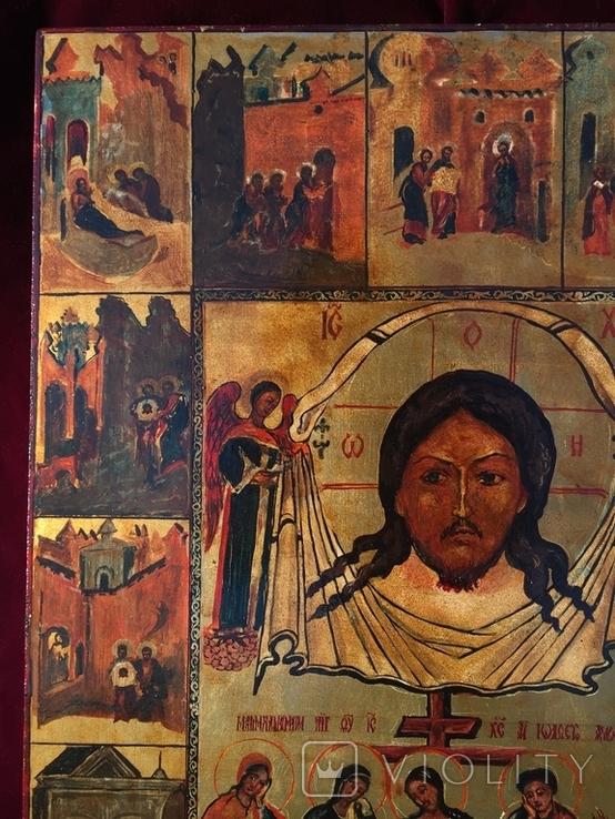 Икона Спас Нерукотворный с клеймами, фото №3