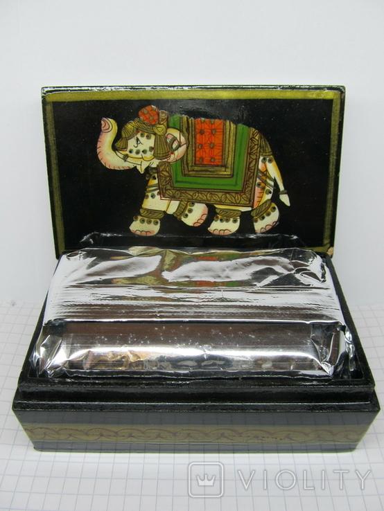 Винтажный запечатаный чай в деревяной коробке. Индия., фото №2