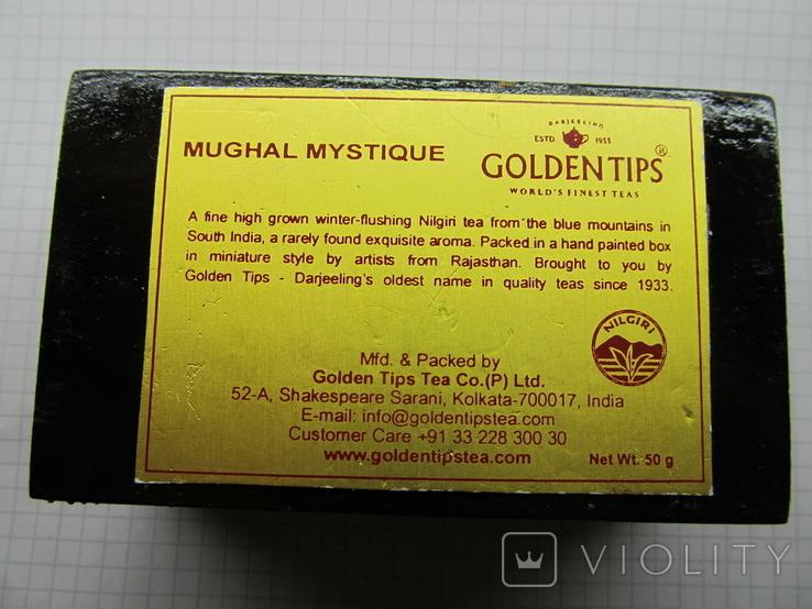Винтажный запечатаный чай в деревяной коробке. Индия., фото №5