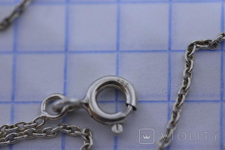 Серебряная цепочка 925 с подвесом, фото №4