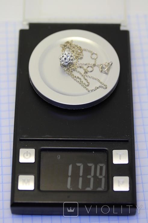 Серебряная цепочка 925 с подвесом, фото №7