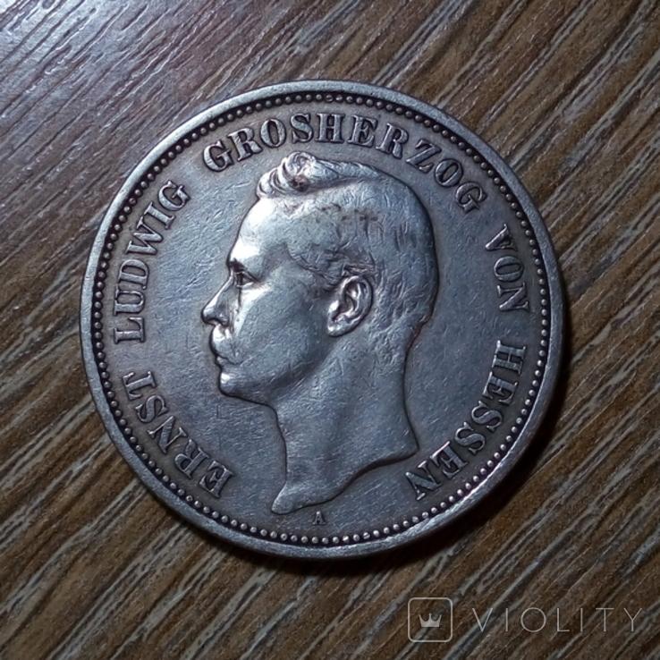 Гессен 5 марок 1895 г., фото №2