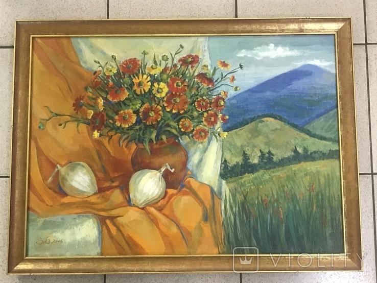 Картина ,, Цветы солнечного лета,, авт Мария Сивкова-Салогуб, фото №3