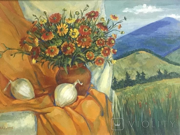 Картина ,, Цветы солнечного лета,, авт Мария Сивкова-Салогуб, фото №2