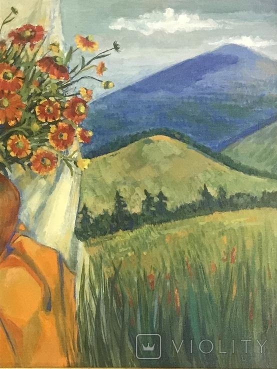 Картина ,, Цветы солнечного лета,, авт Мария Сивкова-Салогуб, фото №4