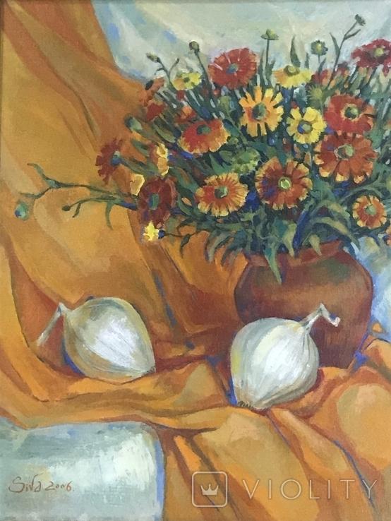 Картина ,, Цветы солнечного лета,, авт Мария Сивкова-Салогуб, фото №5