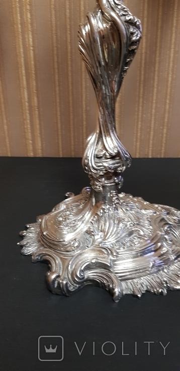Канделябр,подсвечник серебро 925 проба.PAMPALONI., фото №12
