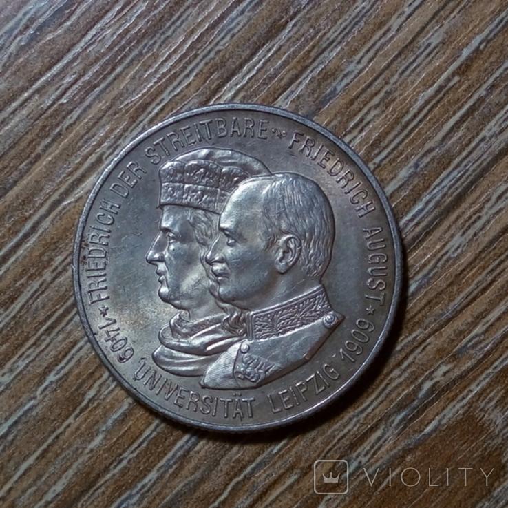 Саксония 2 марки 1909 г., фото №2