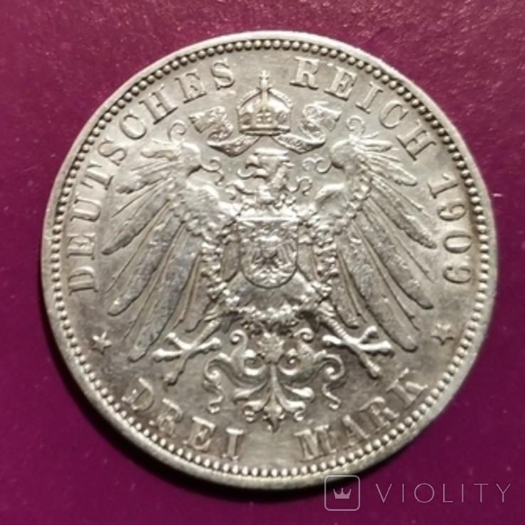 3 марки Вюртемберга 1909 г., фото №2