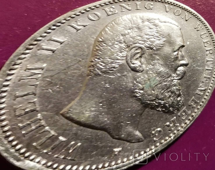 3 марки Вюртемберга 1909 г., фото №3