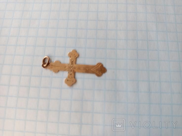 Крестик золото 56 проба., фото №3