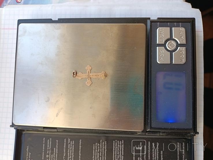 Крестик золото 56 проба., фото №5