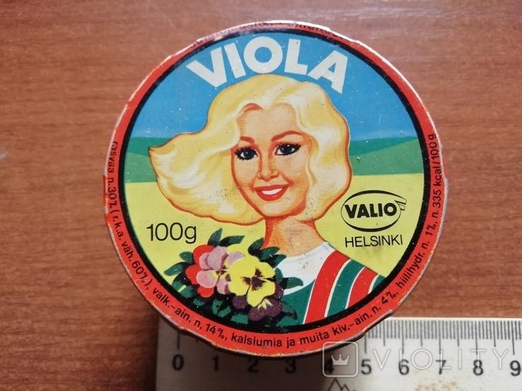 Баночка Viola Плавленный сыр Хельсинки СССР, фото №2