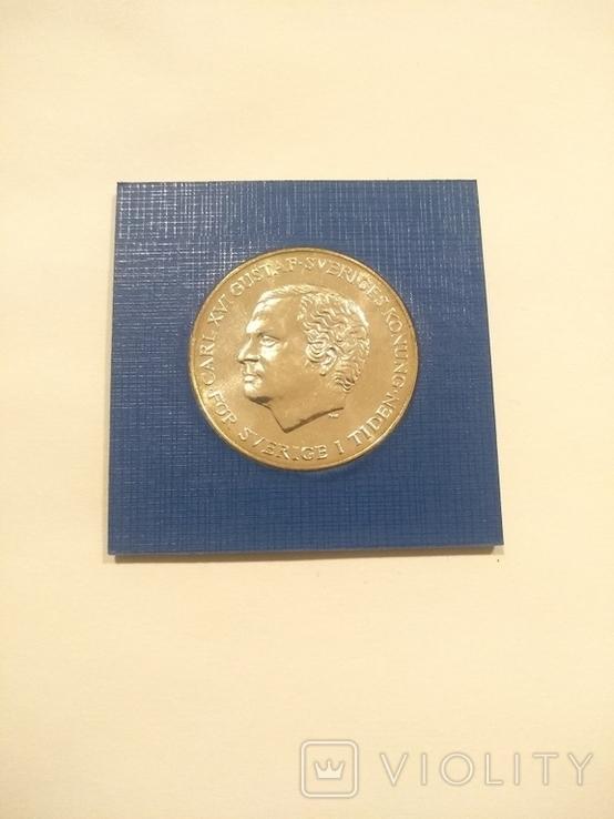 Швеция 200 крон 1980 года серебро 27 грамм 925 проба, фото №4