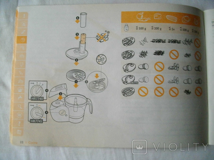 """Кухонный комбайн """"Cucina"""" HR7740 фирмы PHILIPS, фото №12"""
