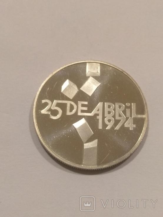 Португалия 100 эскудо  1976 года серебро 18 грамм, 650 проба, фото №3
