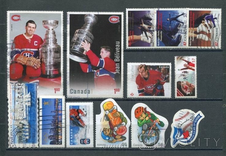 Марки гашеные Канада спорт олимпийские игры хоккей