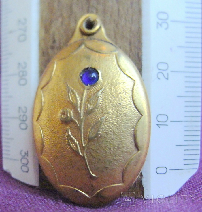 Кулон - подвеска Цветок под фотографию позолоченный., фото №7