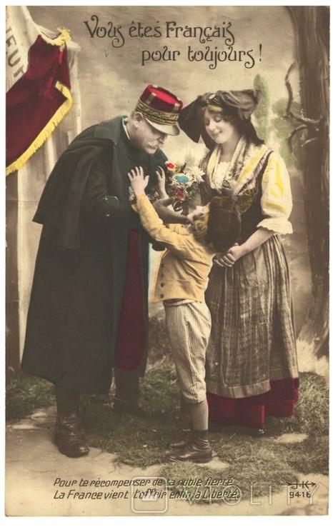 Открытка Ты Француз навсегда Первая мировая война Франция, фото №2
