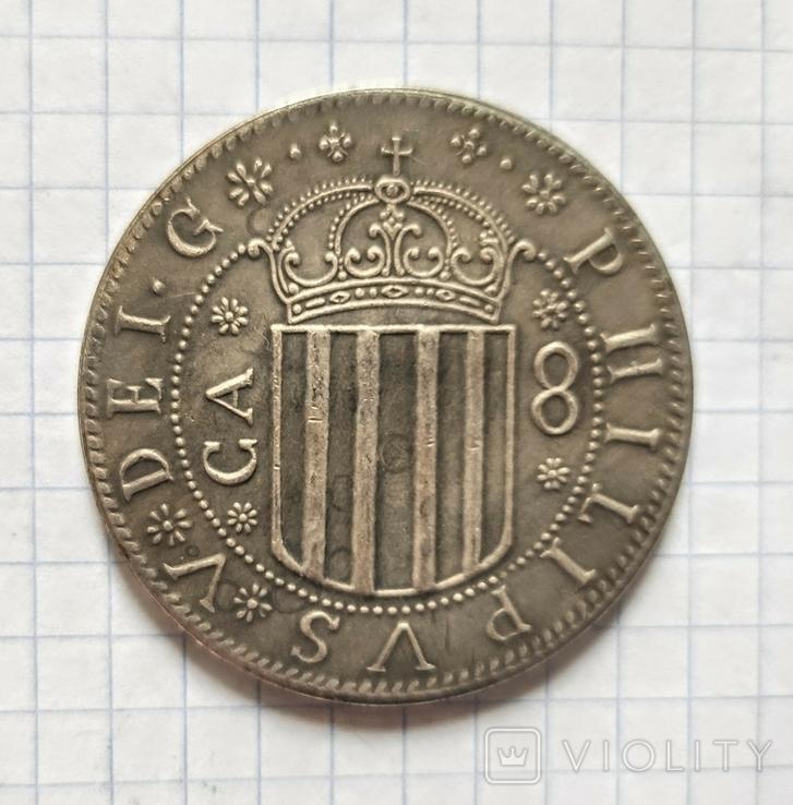 Монета. Испания.  Королевство Арагон.  1707г. Реплика, фото №3