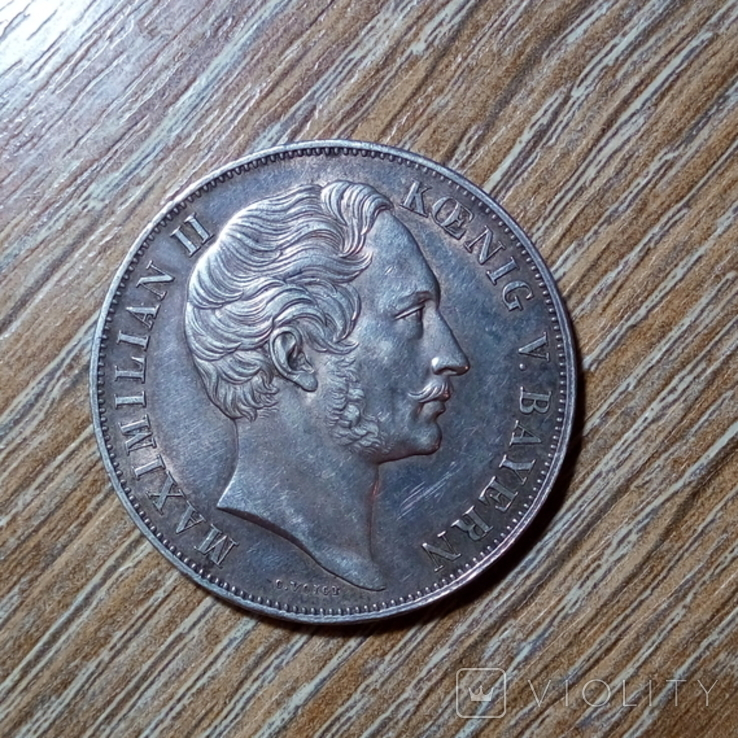 Бавария 2 гульдена 1855 г., фото №2
