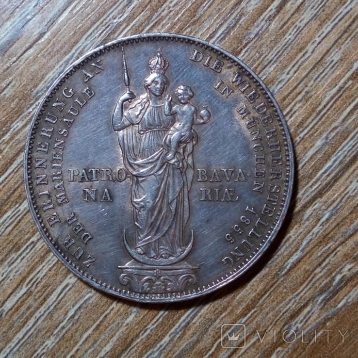 Бавария 2 гульдена 1855 г., фото №3