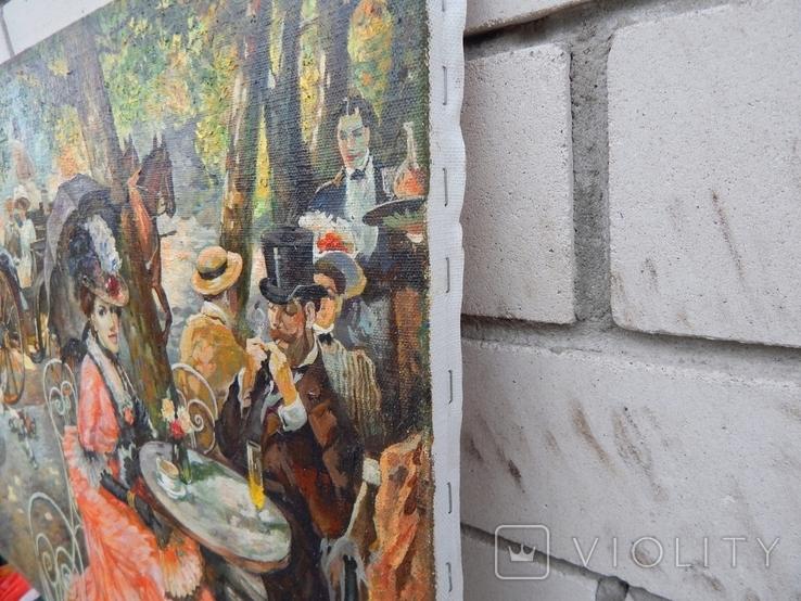 Отдых в кафе 40х50,2015г. Копия., фото №3