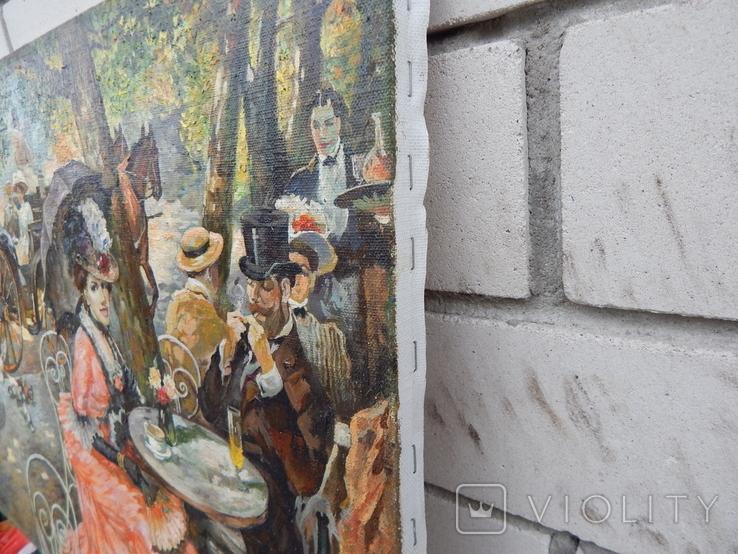 Отдых в кафе 40х50,2015г. Копия., фото №4