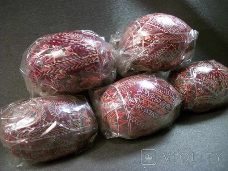 Д16 Пасхальное яйцо, писанка, ручная роспись. 1990 год, УССР, г. Косов. 5 шт, фото №3