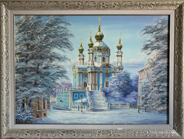 """Картина """"Зима.Андреевская церковь"""" 50-70см"""