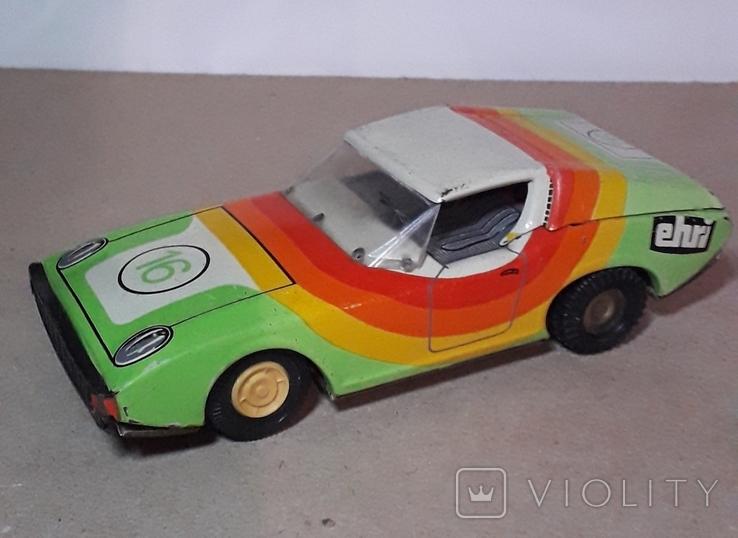 Жестяная гоночная машинка ehri EH RI-74 эпохи СССР из ГДР 70-е годы, фото №2