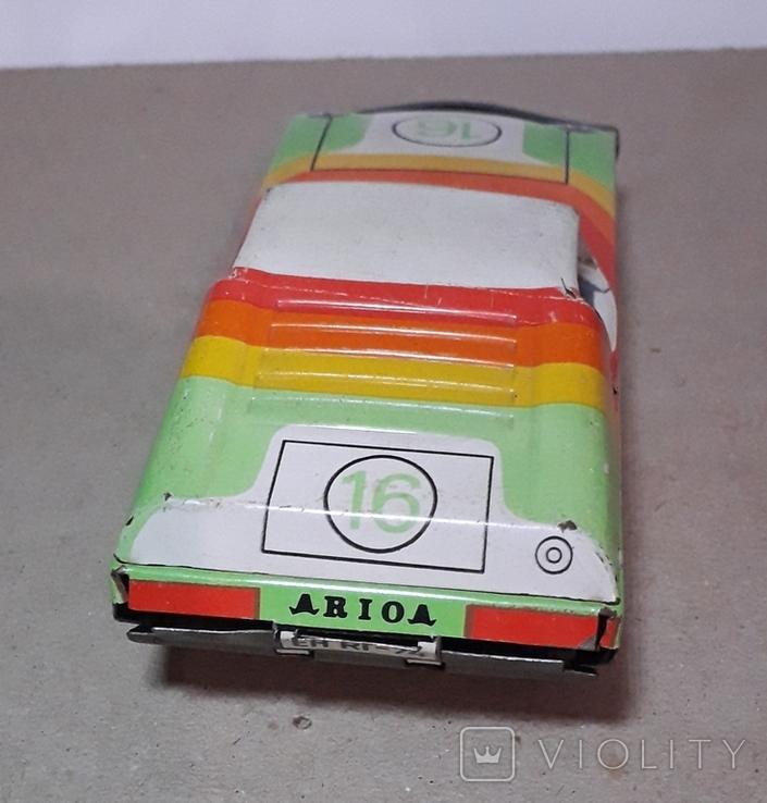 Жестяная гоночная машинка ehri EH RI-74 эпохи СССР из ГДР 70-е годы, фото №4