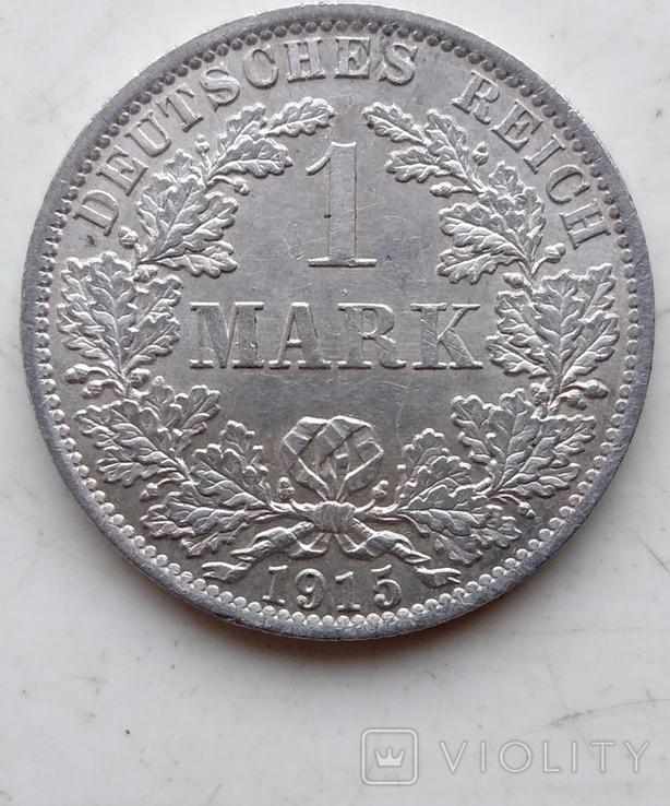 Две монеты Германии , 1 Марка 1914 года (А), 1 Марка 1915 года (А), фото №8