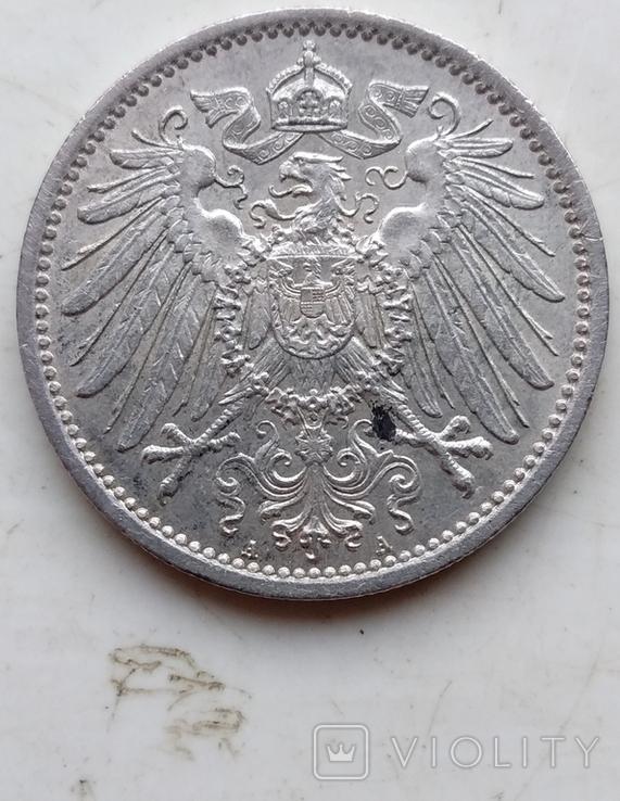 Две монеты Германии , 1 Марка 1914 года (А), 1 Марка 1915 года (А), фото №10