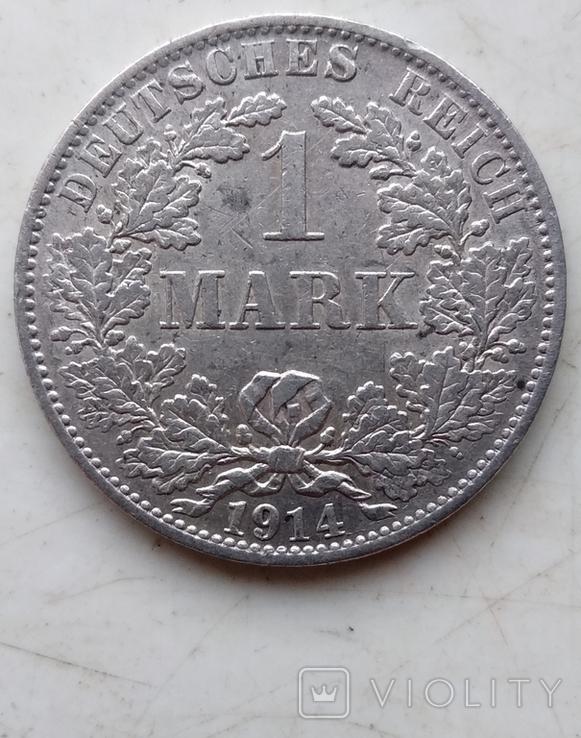 Две монеты Германии , 1 Марка 1914 года (А), 1 Марка 1915 года (А), фото №11