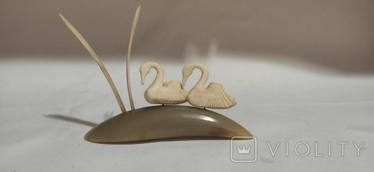 Фигурка лебедей. Кость, фото №3