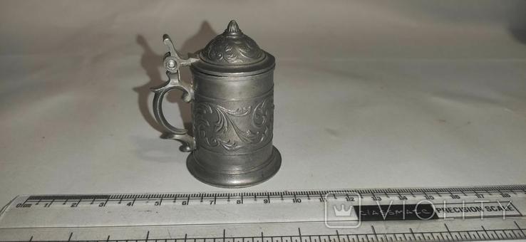 Кружка пивная, мини, олово, Германия, фото №2