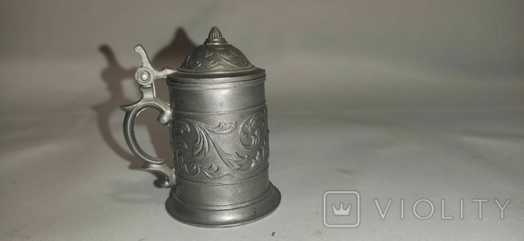 Кружка пивная, мини, олово, Германия, фото №3