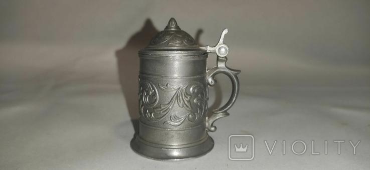 Кружка пивная, мини, олово, Германия, фото №5