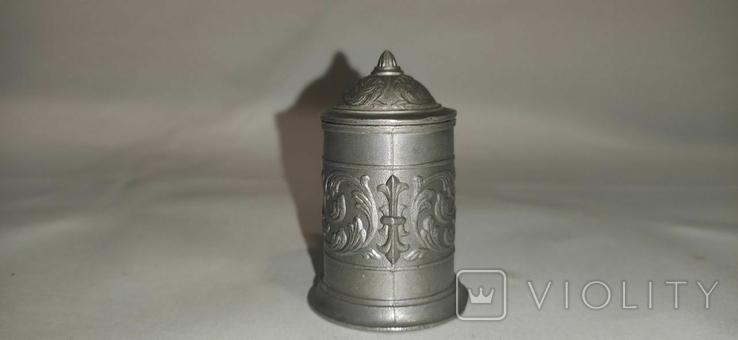 Кружка пивная, мини, олово, Германия, фото №6