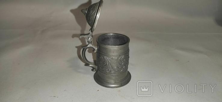 Кружка пивная, мини, олово, Германия, фото №7
