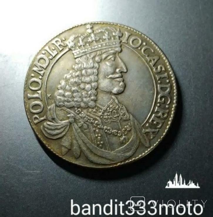 1/2 талера 1650 года Яна 2 Казимира Ваза копия, фото №2