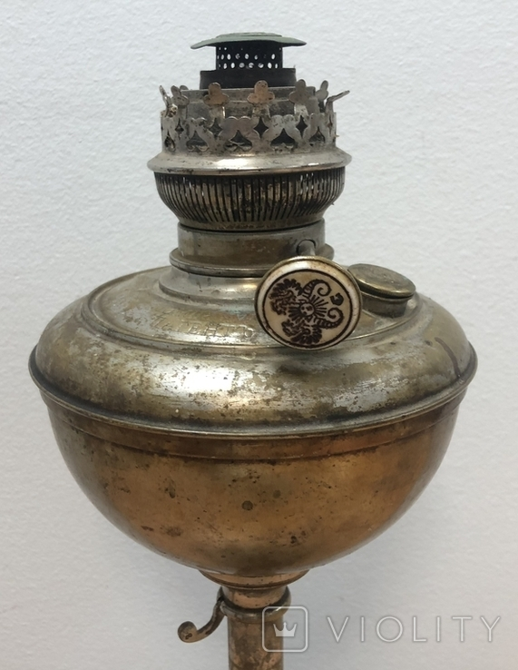 Керосиновая лампа чудо, Отто Миллер Берлин. Высота - 40 см, фото №3
