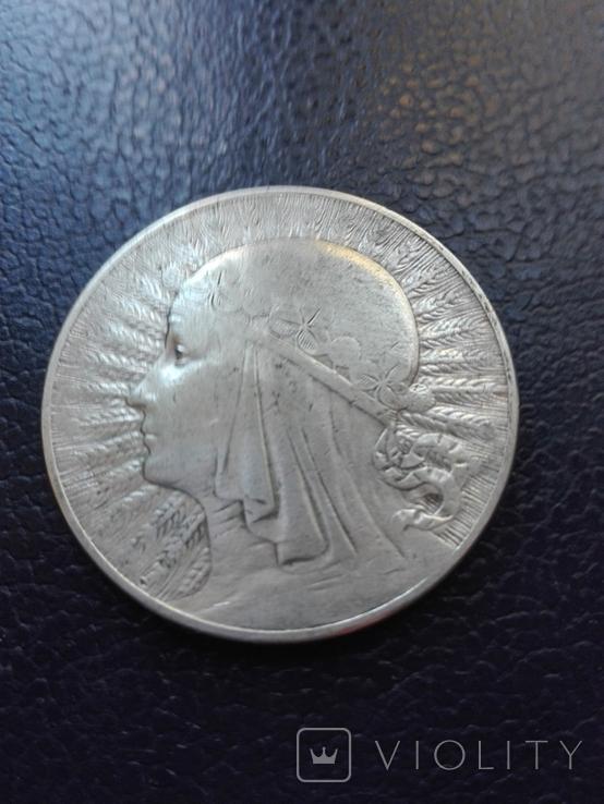 10 злотых 1933 года, серебро, фото №6