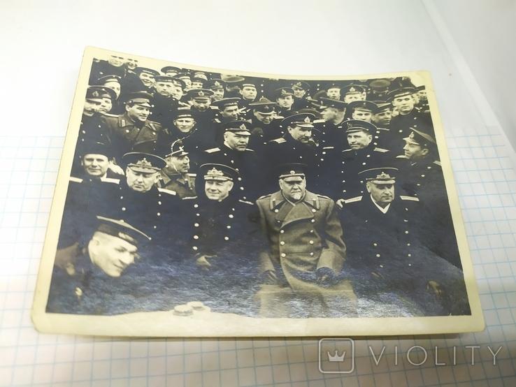 Фото Нарком ВМФ Кузнецов и министр обороны Булганин на Северном флоте, фото №2