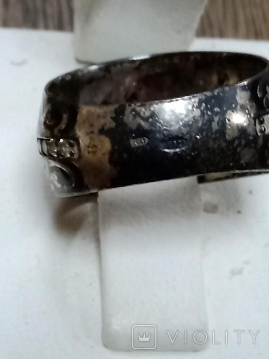 Кольцо (эмаль, позолота), фото №3