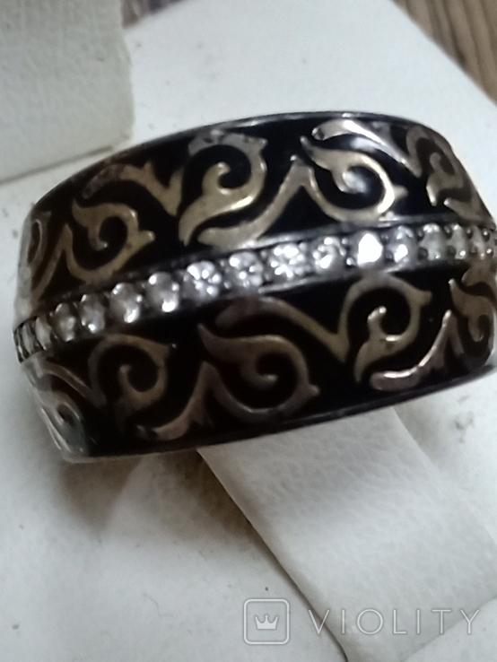 Кольцо (эмаль, позолота), фото №4